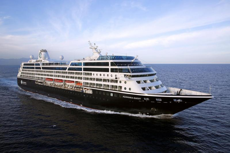 The Azamara Quest floating on the ocean