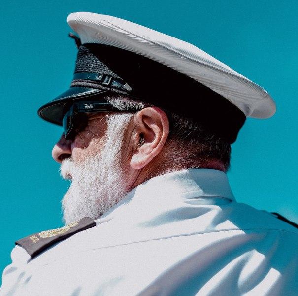 old captain in uniform