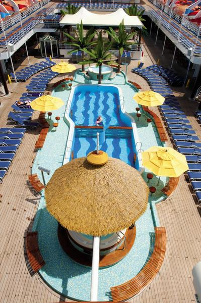 Carnival Ecstasy Lido Resort Pool