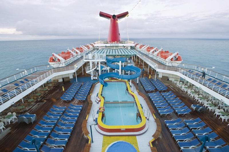 Carnival Elation Lido Pool