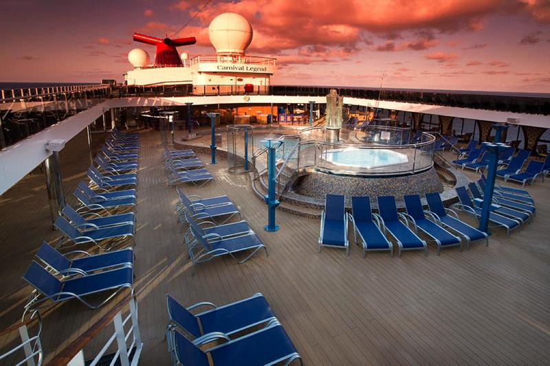 Carnival Legend Lido Pool