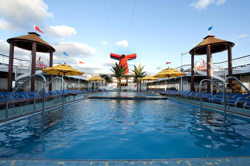 Carnival Paradise Pool Deck