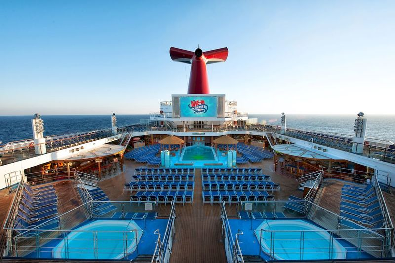 Carnival Radiance Pool Deck