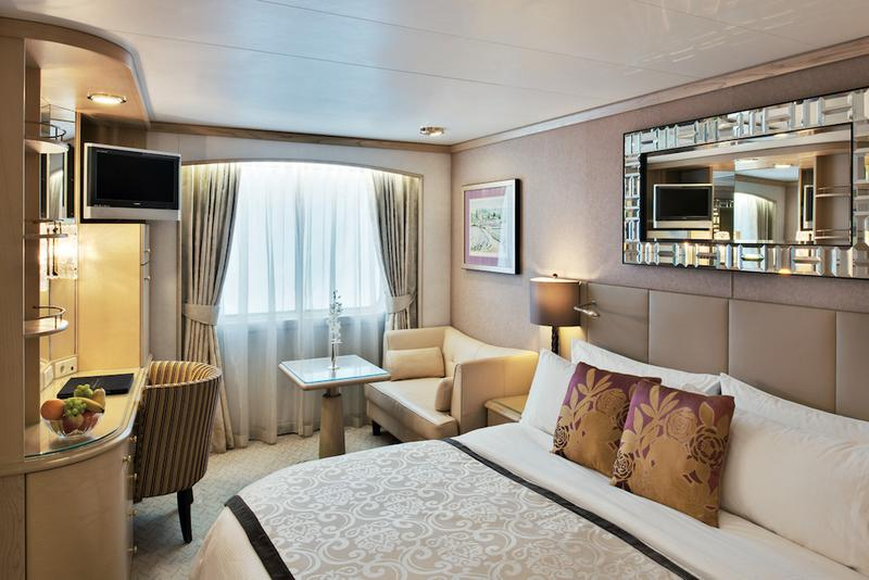 Crystal Symphony Stateroom Oceanview Deluxe