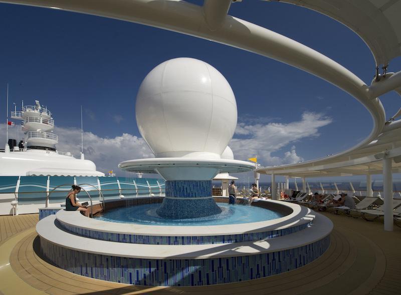 Disney Fantasy Pool Satellite Falls