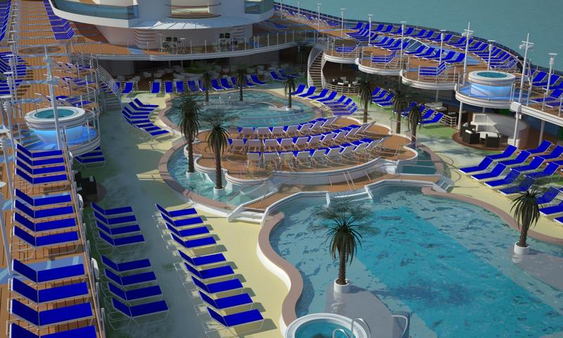 Royal Princess Central Pool